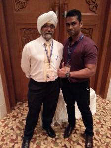 Me and Prof. Rabindarjeet Singh at the 1M-WSCEM